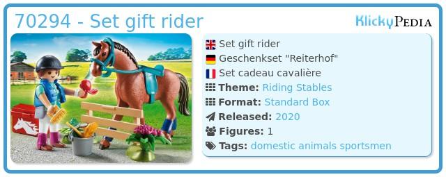 Playmobil 70294 - Set gift rider