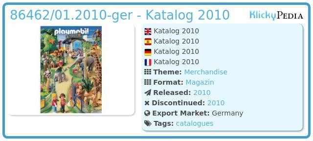 Playmobil 86462/01.2010-ger - Katalog 2010
