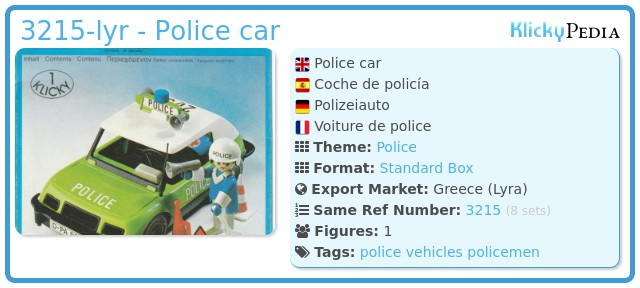 Playmobil 3215-lyr - Police car