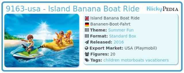 Playmobil 9163-usa - Island Banana Boat Ride