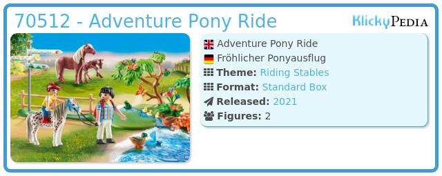 Playmobil 70512 - Adventure Pony Ride