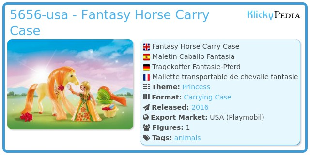 Playmobil 5656-usa - Fantasy Horse Carry Case