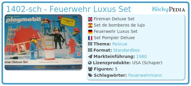 Playmobil 1402-sch - Feuerwehr Luxus Set