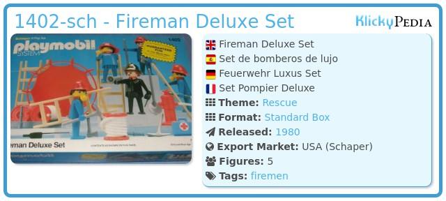 Playmobil 1402-sch - Fireman Deluxe Set