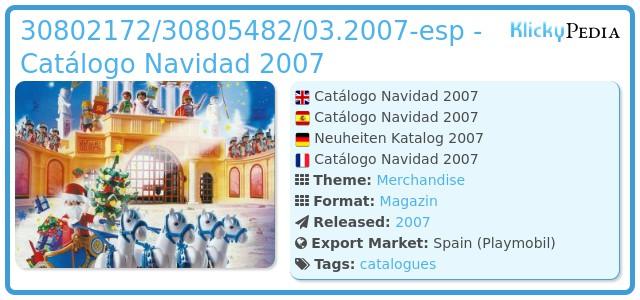 Playmobil 30802172/30805482/03.2007-esp - Catálogo Navidad 2007