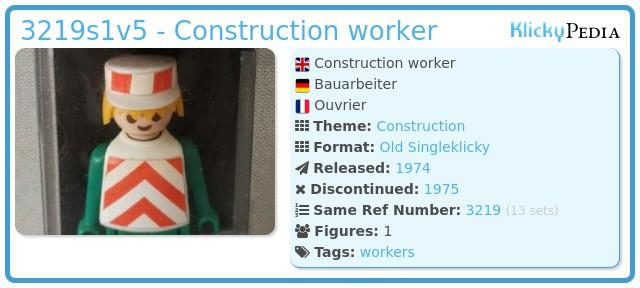 Playmobil 3219s1v5 - Construction worker