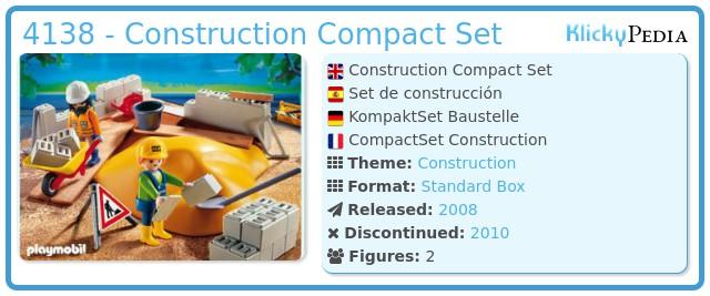 Playmobil 4138 - Construction Compact Set
