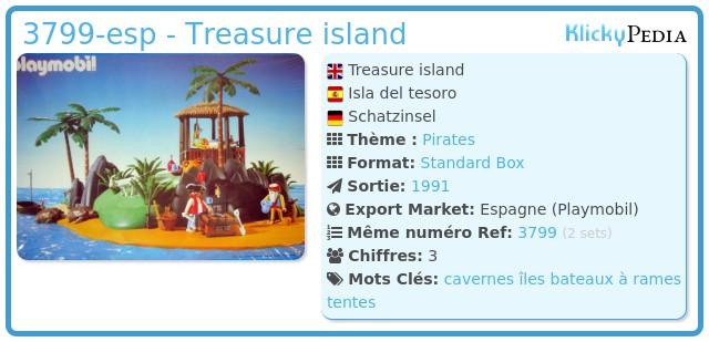 Playmobil 3799-esp - Treasure island