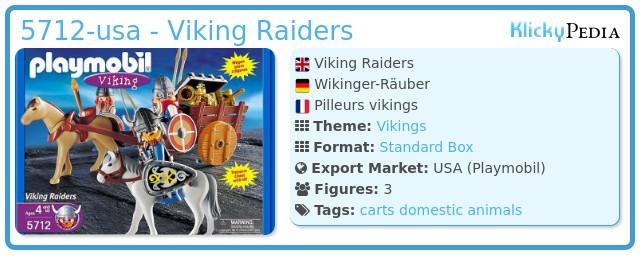 Playmobil 5712-usa - Viking Raiders