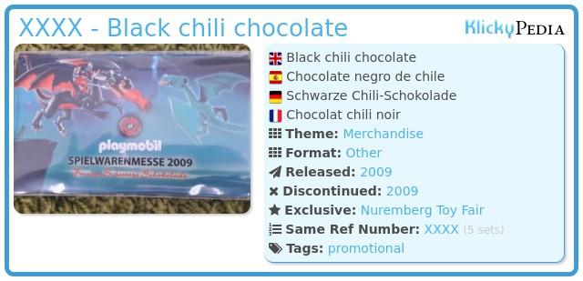 Playmobil XXXX - Black chili chocolate
