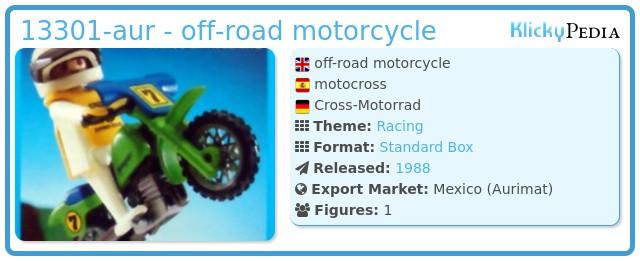Playmobil 13301-aur - off-road motorcycle