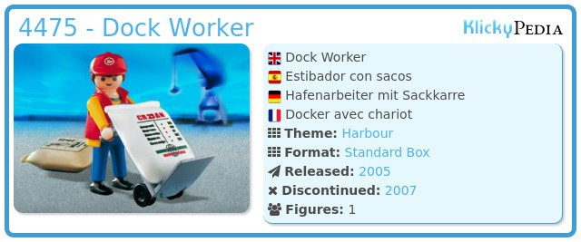 Playmobil 4475 - Dock Worker