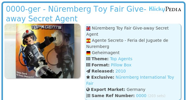 Playmobil 0000-ger - Nüremberg Toy Fair Give-away Secret Agent