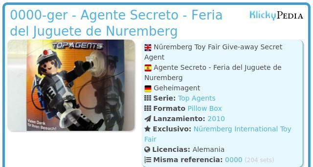 Playmobil 0000-ger - Agente Secreto - Feria del Juguete de Nuremberg