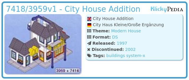 Playmobil 7418/3959v1 - City House Addition