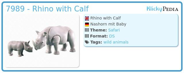 Playmobil 7989 - Rhino with Calf