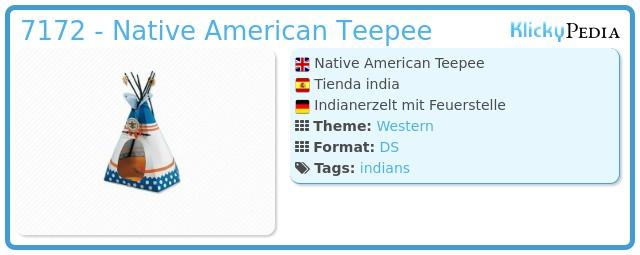 Playmobil 7172 - Native American Teepee