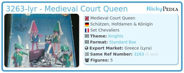 Playmobil 3263-lyr - Medieval Court Queen
