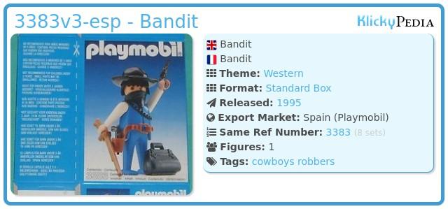 Playmobil 3383v3-esp - Bandit