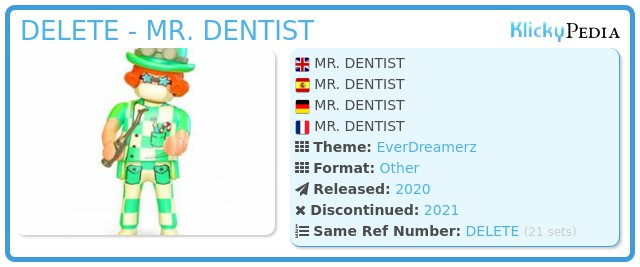 Playmobil 70389V10 - MR. DENTIST