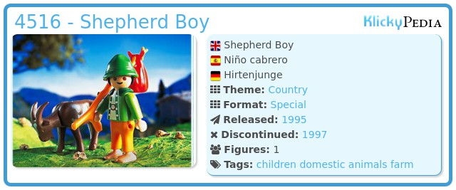 Playmobil 4516 - Shepherd Boy