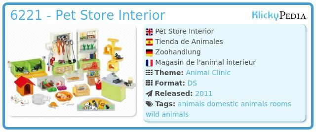 Playmobil 6221 - Pet Store Interior
