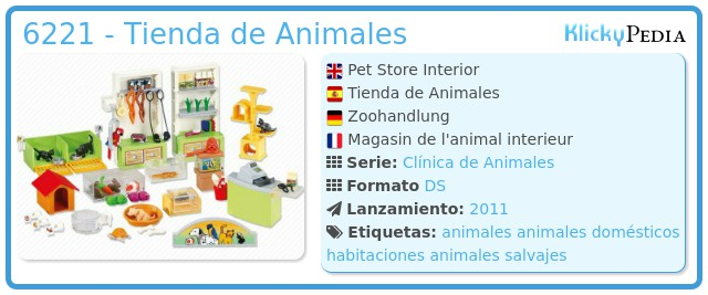 Playmobil 6221 - Tienda de Animales