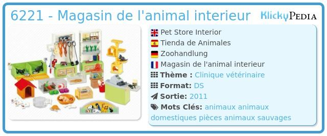 Playmobil 6221 - Magasin de l'animal interieur