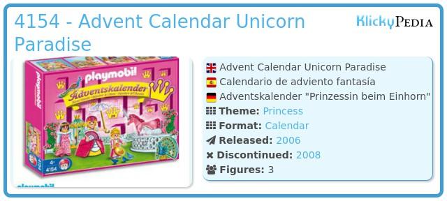 Playmobil 4154 - Advent Calendar Unicorn Paradise