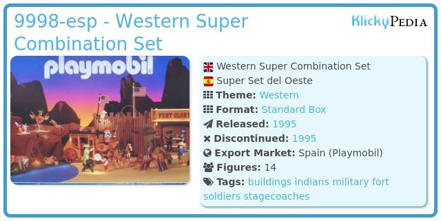 Playmobil 9998-esp - Western Super Combination Set