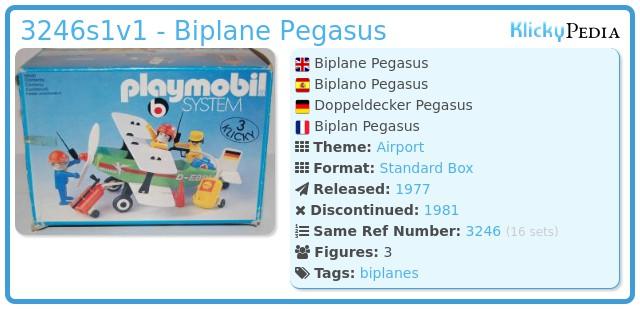 Playmobil 3246s1v1 - Biplane Pegasus