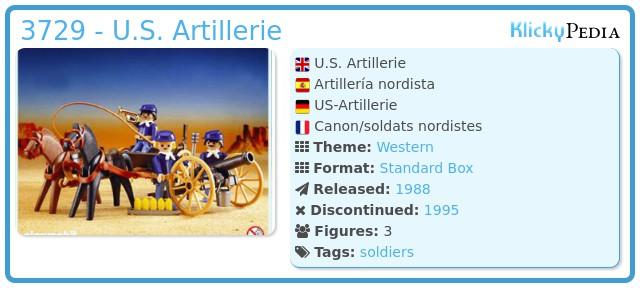 Playmobil 3729 - U.S. Artillerie