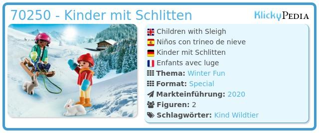 Playmobil 70250 - Kinder mit Schlitten