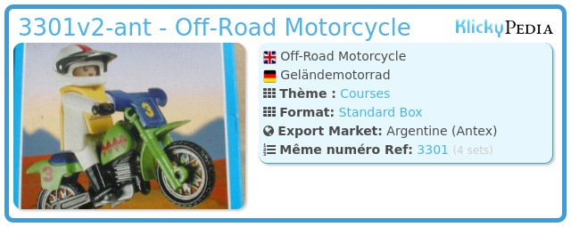 Playmobil 3301v2-ant - Off-Road Motorcycle