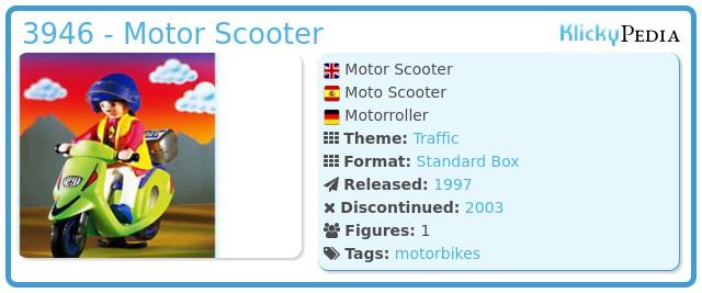 Playmobil 3946 - Motor Scooter