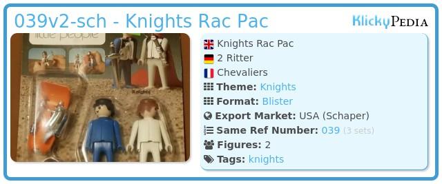Playmobil 039v2-sch - Knights Rac Pac