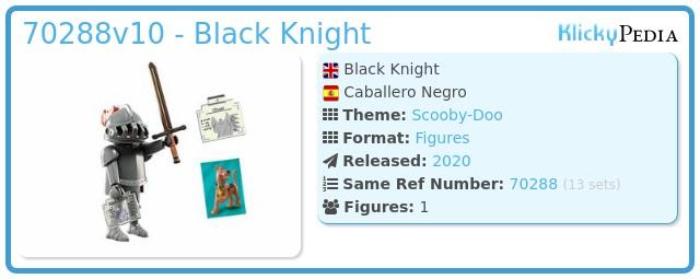 Playmobil 70288v10 - Black Knight
