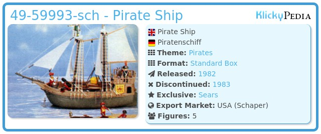 Playmobil 49-59993-sch - Pirate Ship