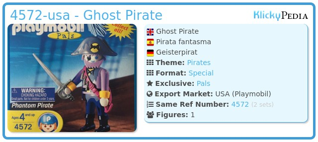 Playmobil 4572-usa - Ghost Pirate