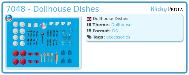 Playmobil 7048 - Dollhouse Dishes