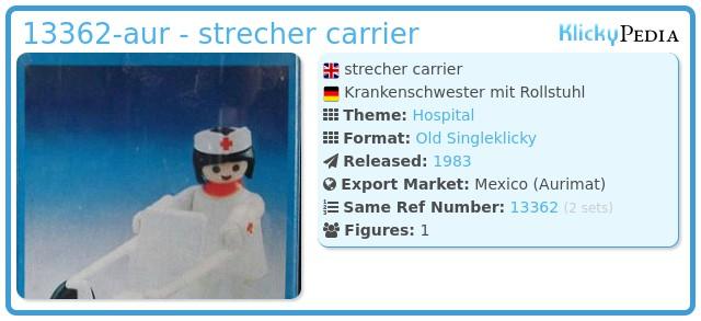 Playmobil 13362-aur - strecher carrier