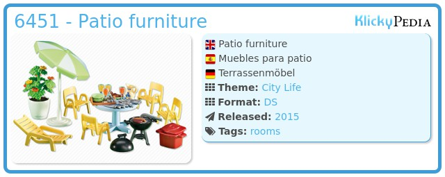 Playmobil 6451 - Patio furniture
