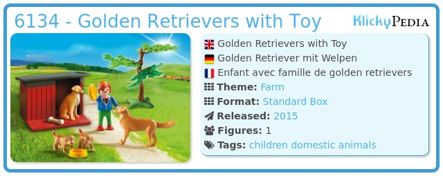 Playmobil 6134 - Golden Retrievers with Toy