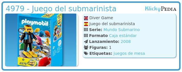Playmobil 4979 - Juego del submarinista