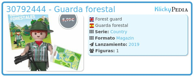 Playmobil 30792444 - Guarda forestal