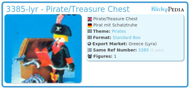 Playmobil 3385-lyr - Pirate/Treasure Chest