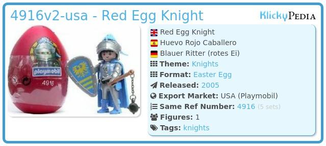 Playmobil 4916v2-usa - Red Egg Knight
