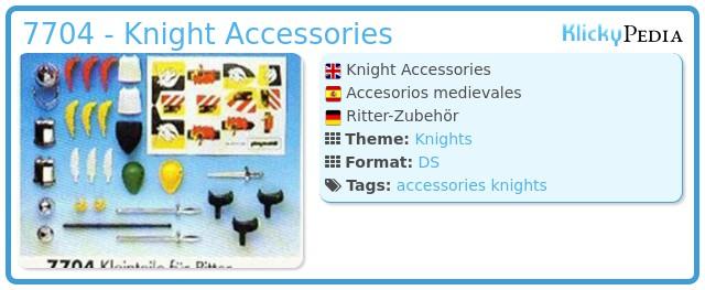 Playmobil 7704 - Knight Accessories