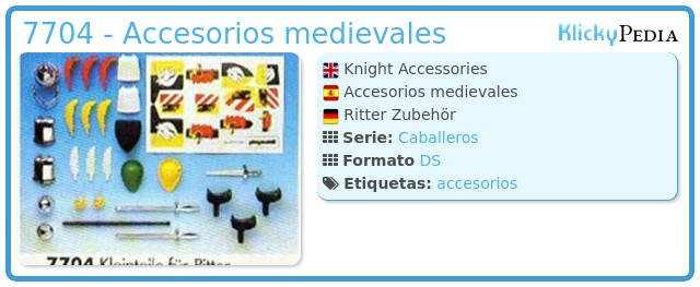 Playmobil 7704 - Accesorios medievales