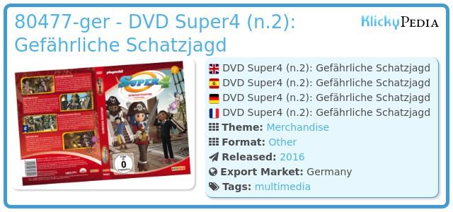 Playmobil 80477-ger - DVD Super4 (n.2): Gefährliche Schatzjagd